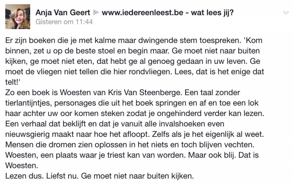 commentaar Anja Van Geert1