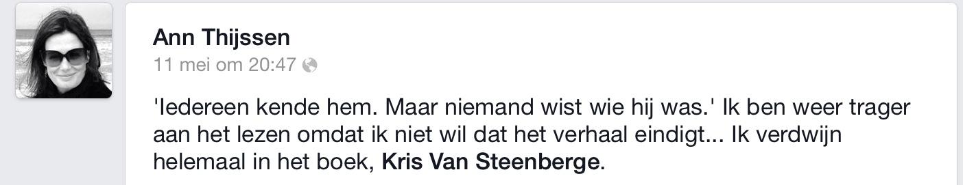 commentaar Ann Thijssen