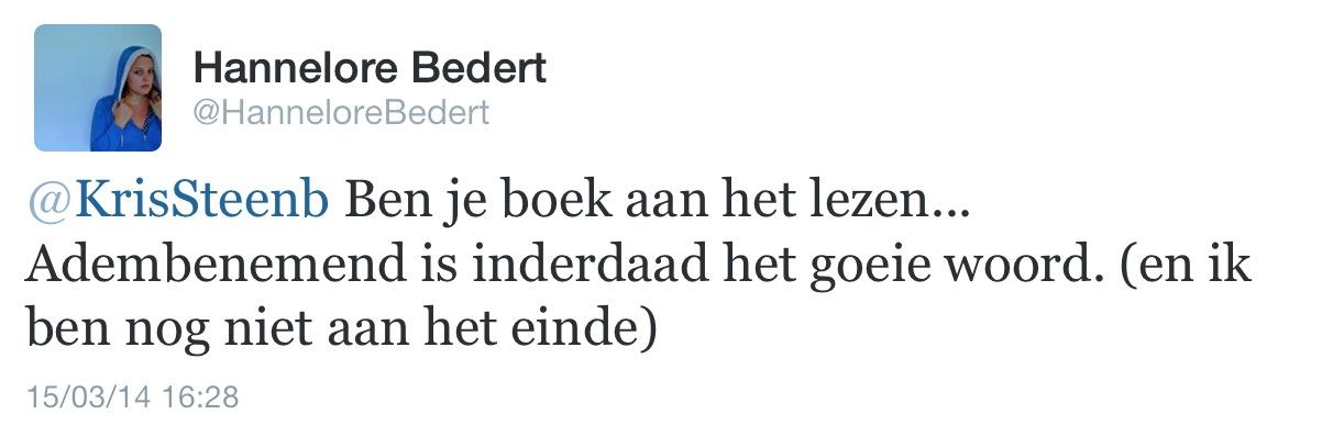 commentaar Hannelore Bedert