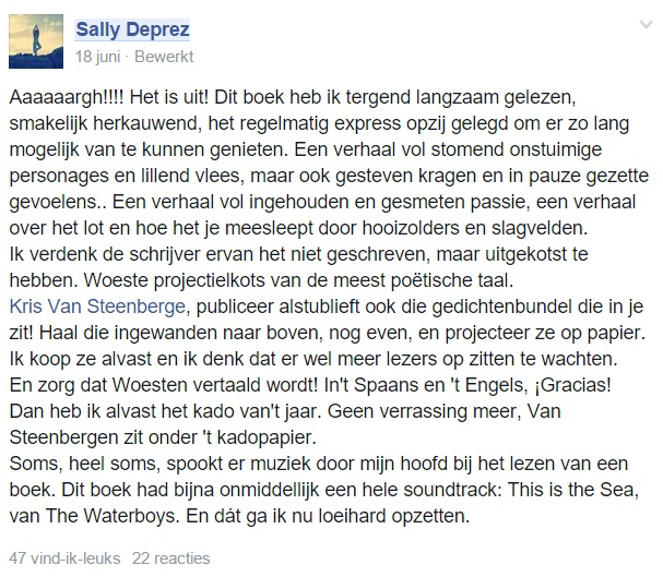 commentaar Sally Deprez
