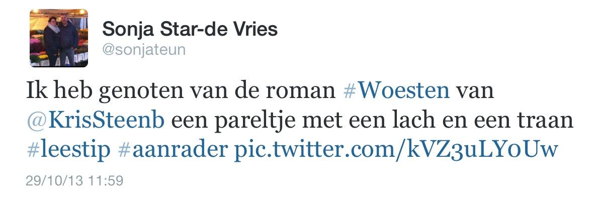 commentaar Sonja Star-De Vries