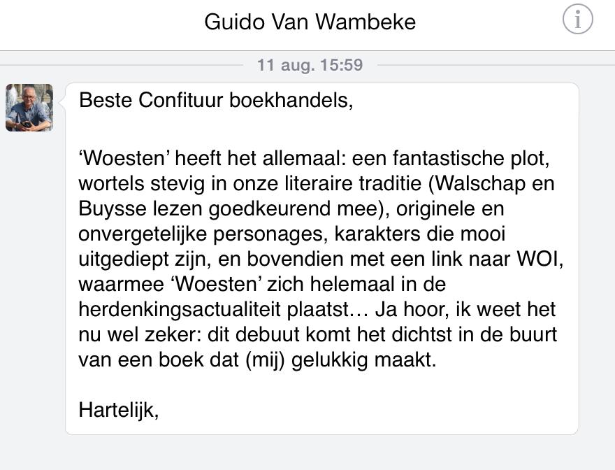 commentaar - guido van wambeke