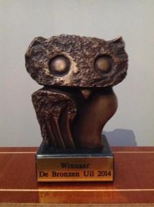 bronzen uil 2014 beeldje